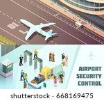 airport horizontal isometric...   Shutterstock .eps vector #668169475