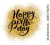 gold sparkles background happy...   Shutterstock . vector #668176651