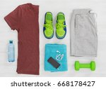 gym clothing | Shutterstock . vector #668178427