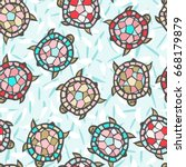 abstract vector seamless... | Shutterstock .eps vector #668179879