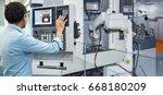 maintenance engineer... | Shutterstock . vector #668180209