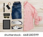 smart casual clothing | Shutterstock . vector #668180599