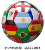 argentina football with world... | Shutterstock . vector #668181865