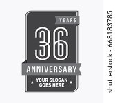 36 years anniversary design... | Shutterstock .eps vector #668183785