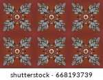 ornamental pattern on... | Shutterstock . vector #668193739
