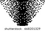 black and white pixel... | Shutterstock .eps vector #668201329
