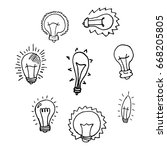 a set of doodle bulbs. hand