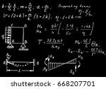 vintage physical notation with... | Shutterstock .eps vector #668207701