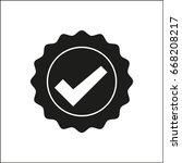 vector icon quality guarantee   Shutterstock .eps vector #668208217