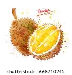 watercolor illustration of... | Shutterstock . vector #668210245