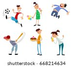 vector illustration of a six... | Shutterstock .eps vector #668214634