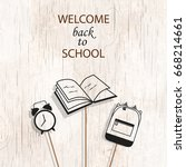 welcome back to school concept... | Shutterstock .eps vector #668214661
