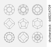 monochrome geometric circle... | Shutterstock .eps vector #668214709