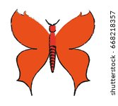 butterfly cartoon icon image  | Shutterstock .eps vector #668218357