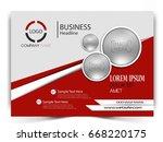 vector business flyer.   Shutterstock .eps vector #668220175