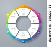 infographics template 6 options ... | Shutterstock .eps vector #668221411