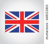 united kingdom  england flag  | Shutterstock .eps vector #668221801