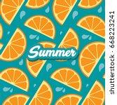 Summer Orange Slices Seamless...