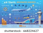 air travel infographic elements ... | Shutterstock .eps vector #668224627