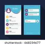 vector phone chat interface.... | Shutterstock .eps vector #668234677