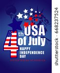 happy independence day | Shutterstock .eps vector #668237524