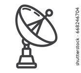 satellite dish line icon ... | Shutterstock .eps vector #668246704