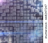 abstract background of cubes in ... | Shutterstock . vector #668247247