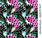 seamless brushpen textile... | Shutterstock .eps vector #668257447