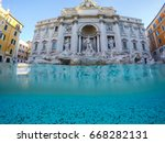 underwater view at trevi... | Shutterstock . vector #668282131