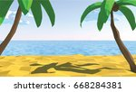 summertime on the beach. low... | Shutterstock .eps vector #668284381