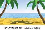 summertime on the beach. low... | Shutterstock .eps vector #668284381