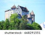 the medieval castle gutenberg... | Shutterstock . vector #668291551