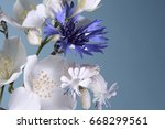 small bouquet of white...   Shutterstock . vector #668299561