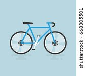 bicycle modern flat... | Shutterstock .eps vector #668305501