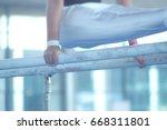 parallel bars gymnastic... | Shutterstock . vector #668311801