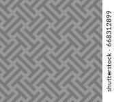 seamless gray ethnic op art... | Shutterstock .eps vector #668312899