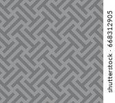 seamless gray ethnic op art... | Shutterstock . vector #668312905