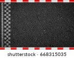 finish line racing road asphalt ... | Shutterstock . vector #668315035