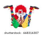 Happy Clown  Laying On The...
