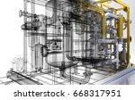 pipe  heating  compressors  bim ...   Shutterstock . vector #668317951