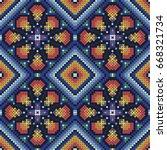 huichol art | Shutterstock .eps vector #668321734