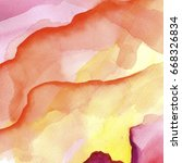 set of watercolor stains on... | Shutterstock . vector #668326834