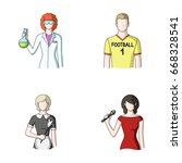 woman chemist  football player  ... | Shutterstock . vector #668328541