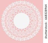 openwork white napkin. lace... | Shutterstock .eps vector #668328964