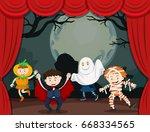 children in halloween costume...