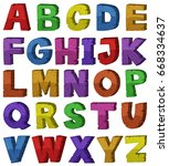 font design for english... | Shutterstock .eps vector #668334637