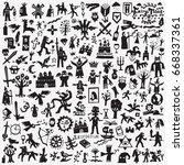 fairy tales doodles | Shutterstock .eps vector #668337361