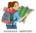 illustration featuring a... | Shutterstock .eps vector #668341087
