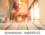 abstract perspective table over ... | Shutterstock . vector #668343121