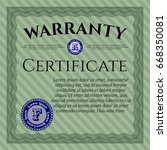 green warranty template. with... | Shutterstock .eps vector #668350081